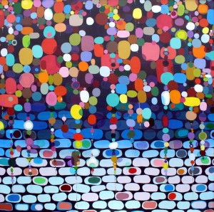 "South Side Spiritual   2007 Acrylic on canvas 43"" X 43"""