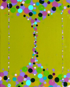 "Green Funnel   2007 Acrylic on canvas 16"" X 16"""