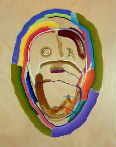 """Trilobite"", acrylic on wood, 11"" x 14"" 2013"