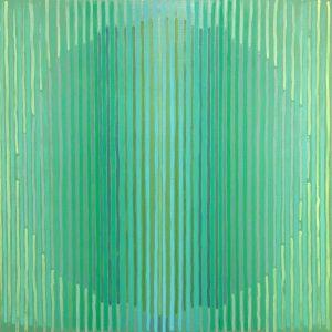 """Greens"" acrylic on wood panel 24"" x 24"" 2018"