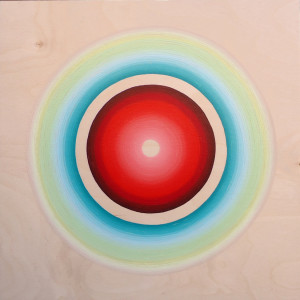 "In Limbo Acrylic on wood 12"" X 12"" Collection of Jan Westcott and Steve Krasinsky"