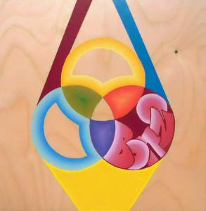"""""""Bonzo"""", acrylic on wood, 12""""x 12"""" 2013"""