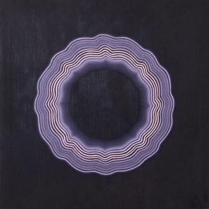 """Purple Tart"", acrylic on wood, 20"" x 20"" 2016"