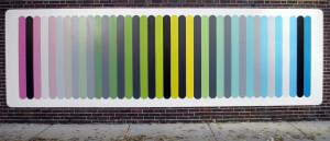 """Monument"", acrylic on marine board, 20' X 6' 2013"