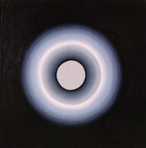 "Orobouros Acrylic on mounted canvas 8"" X 8"""
