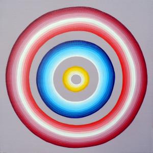 "Untitled Acrylic on mounted canvas 6"" X 6"""
