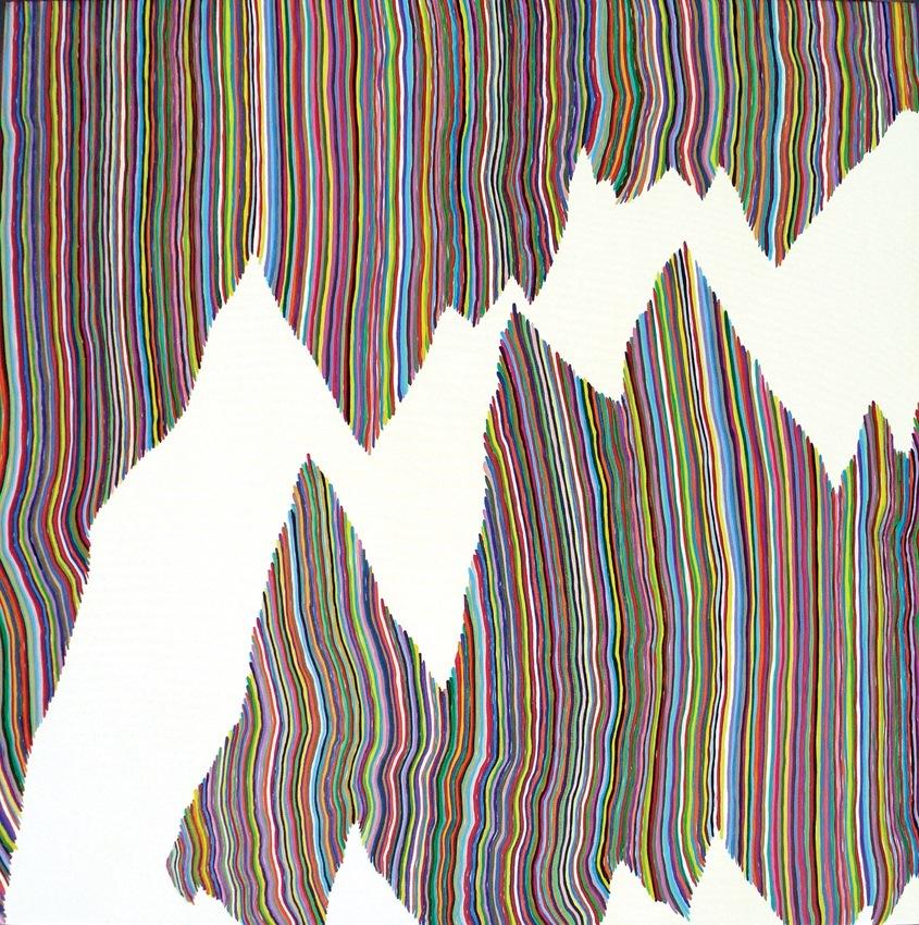 "Double Armeggeddon 2010 Acrylic on canvas 22""x 22"""