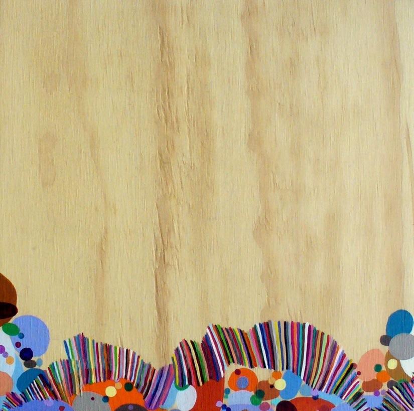 """Untitled Acrylic on wood 13"""" X 13"""""""